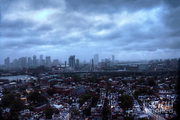 Photograph - Boston Viewed From Top Of Bunker Hill Monument by Wayne Moran