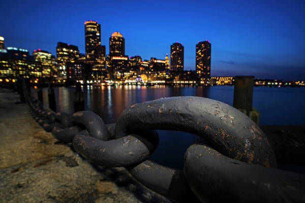 Photograph - Boston Waterfront Chain Detail Boston Ma by Toby McGuire