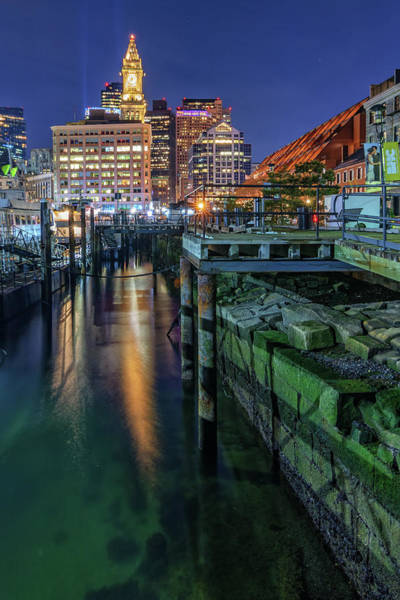 Photograph - Boston's Custom House Tower From Long Wharf by Kristen Wilkinson