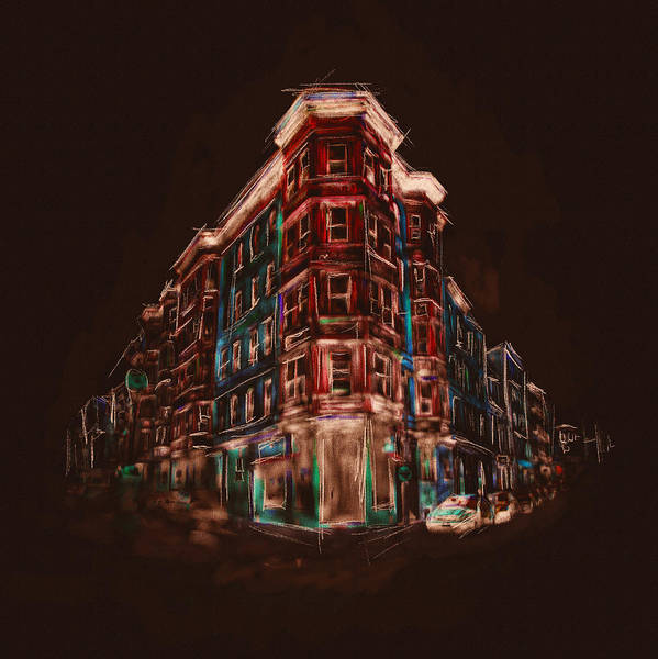 Boston North End Wall Art - Painting - Bostons North End 222 4 by Mawra Tahreem