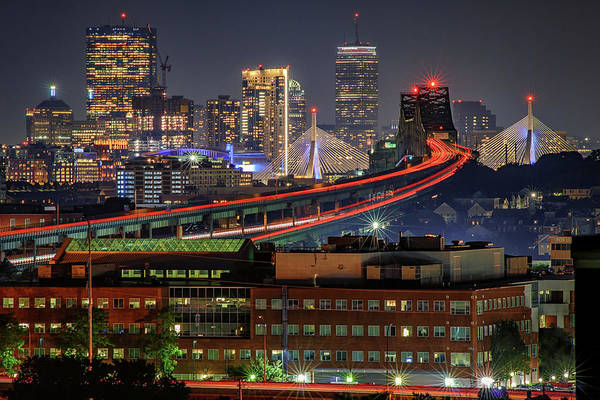 Photograph - Boston's Skyline From Chelsea by Kristen Wilkinson