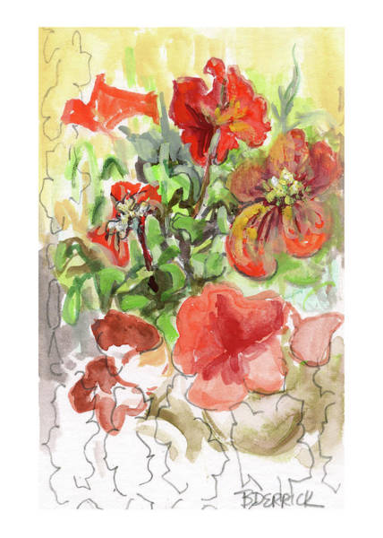 Painting - Botanical Abstraction, Study Two by Betsy Derrick
