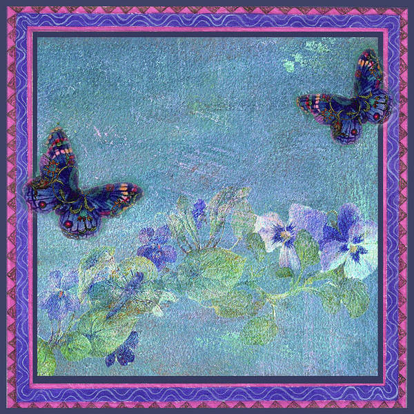 Painting - Botanical And Colorful Butterflies by Judith Cheng