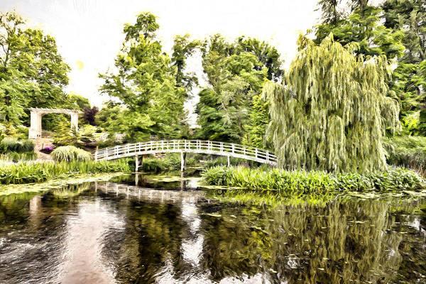 Botanical Bridge - Monet Art Print