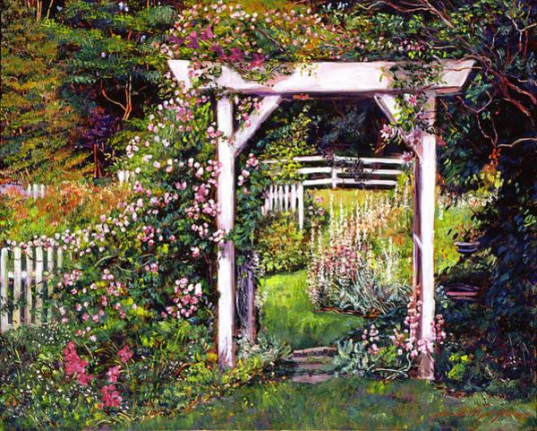 Arbor Wall Art - Painting - Botanical Paradise by David Lloyd Glover