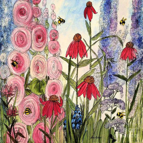 Botanical Wildflowers Art Print