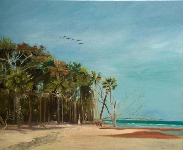 Wall Art - Painting - Botany Bay  by Karen Langley