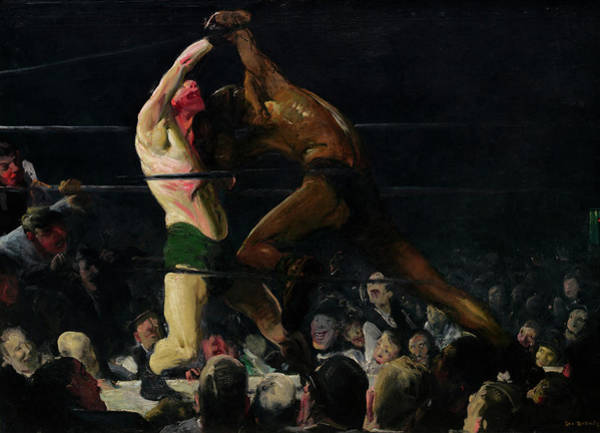 Boxing Painting -  Both Members Of This Club, 1909 by George Bellows