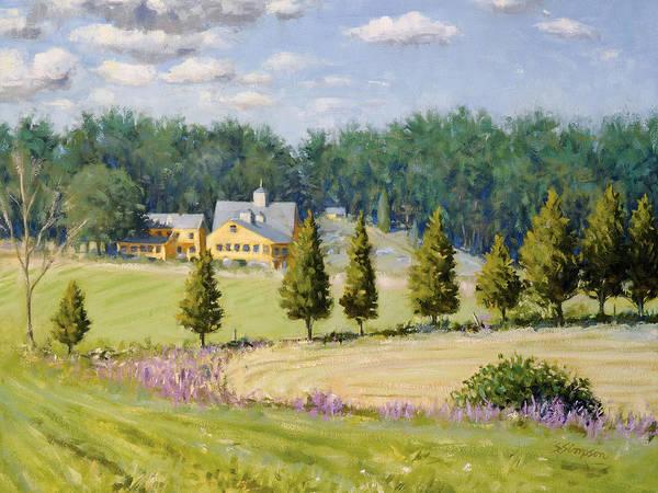 Family Farm Painting - Bothways Farm by Steven A Simpson