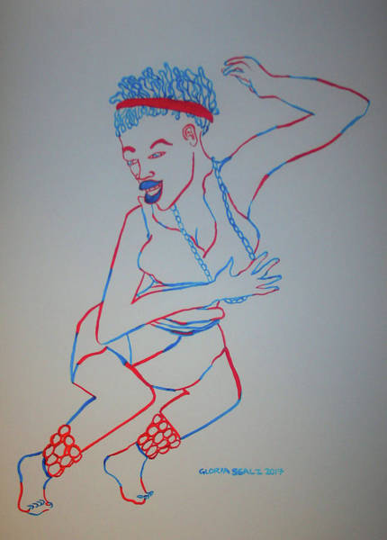 Painting - Botswana Traditional Dance by Gloria Ssali