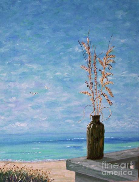 Painting - Bottle And Sea Oats by Stanton Allaben