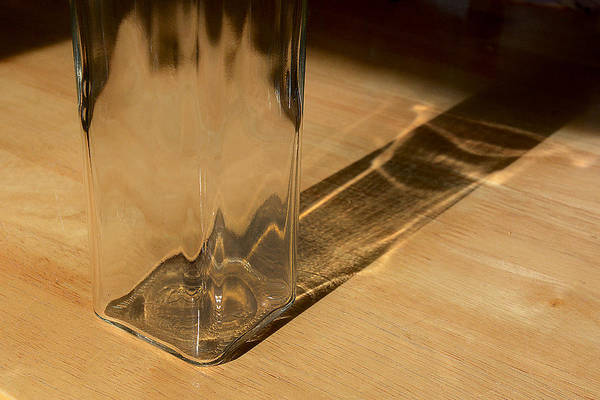 Photograph - Bottle And Shadow 0925 by Steve Somerville
