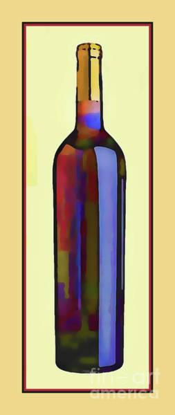 Cellar Digital Art - Bottle Of Red by Susan Lafleur