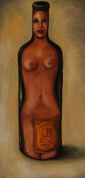 Painting - Bottle Woman 3 by Leah Saulnier The Painting Maniac