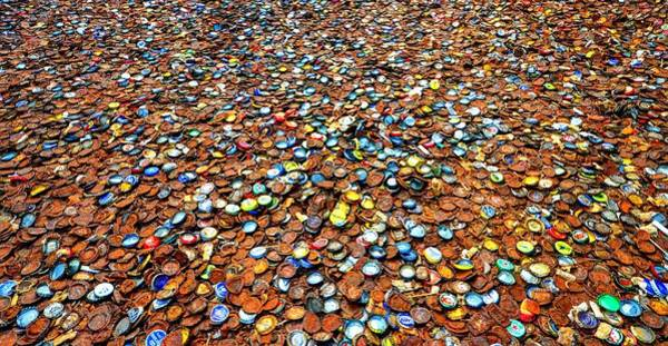 Photograph - Bottlecap Alley by David Morefield
