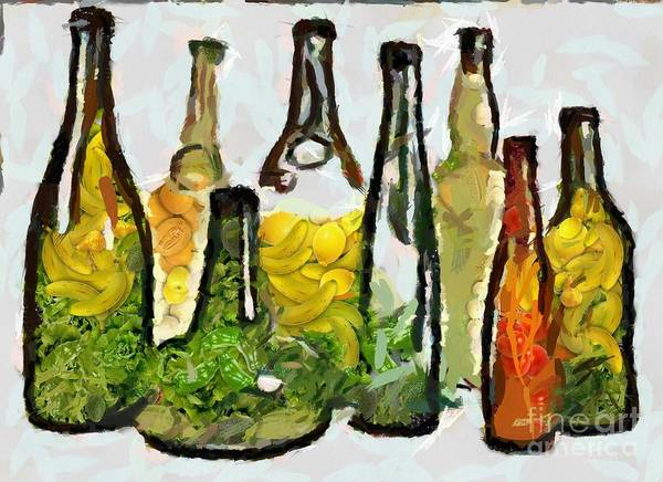 Painting - Bottled Fruits And Veggies What by Catherine Lott