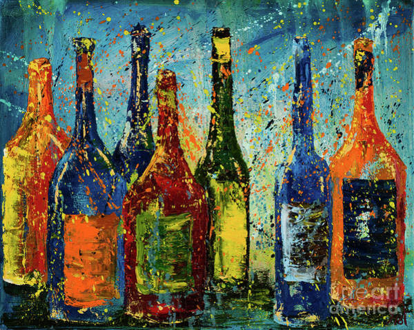 Impressionistic Vineyard Wall Art - Painting - Bottled Up by Jodi Monahan