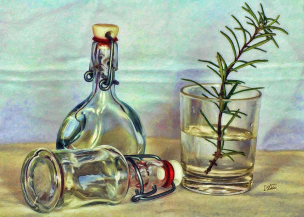 Painting - Bottles And Herb by Dean Wittle