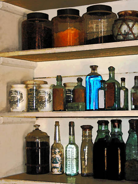 Photograph - Bottles And Jars by Susan Savad
