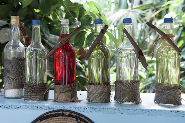 Photograph - Bottles In A Row No. 1 by Helen Northcott