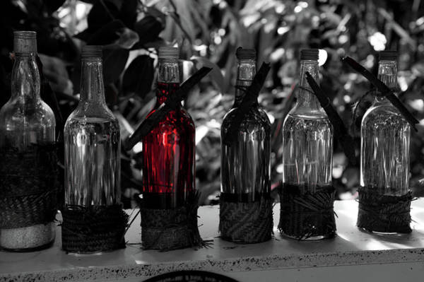 Photograph - Bottles In A Row No. 4 by Helen Northcott