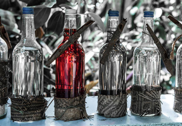 Photograph - Bottles In A Row No. 5 by Helen Northcott