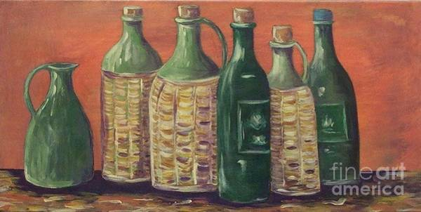 Painting - Bottles by Jeanie Watson