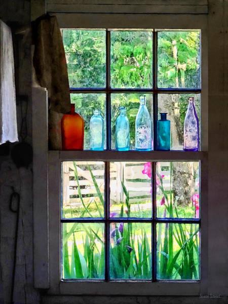 Photograph - Bottles On Kitchen Window by Susan Savad