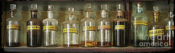 Photograph - Bottles by Russell Brown