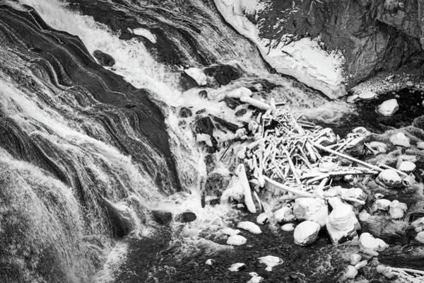 Photograph - Bottom Of A Winter Waterfall - Yellowstone by Stuart Litoff