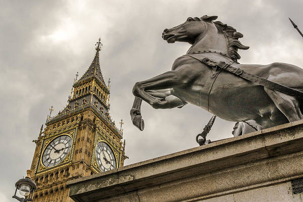 Photograph - Boudicca Statue And Big Ben by John Williams