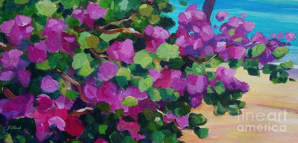 Wall Art - Painting - Bougainvillea Panoramic by John Clark