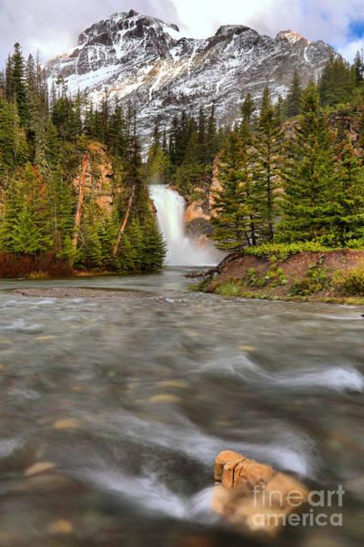 Photograph - Boulder Below Running Eagle Falls by Adam Jewell
