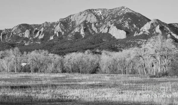 Photograph - Boulder Colorado Flatiron View From Jay Rd Bw by James BO Insogna