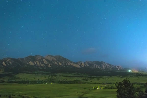 Photograph - Boulder Colorado Foothills Cool Nighttime View by James BO Insogna