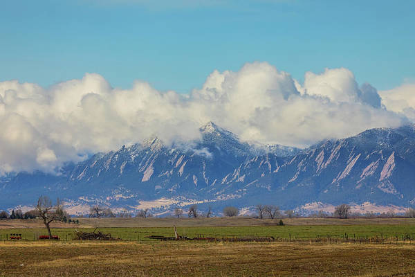 Photograph - Boulder Colorado Front Range Cloud Pile On by James BO Insogna