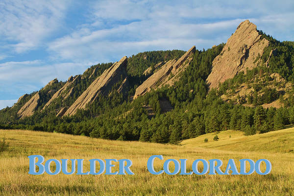 Photograph - Boulder Colorado Poster 1 by James BO Insogna