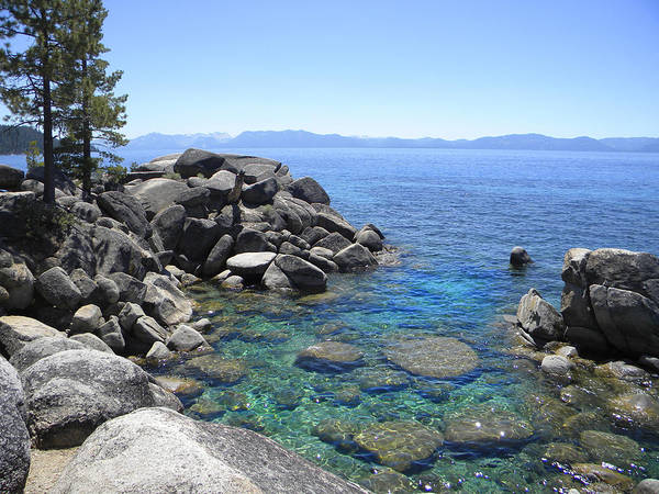 Boulder Cove On Lake Tahoe Art Print
