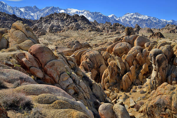 Photograph - Boulder Fields Of The Alabama Hills by Ray Mathis