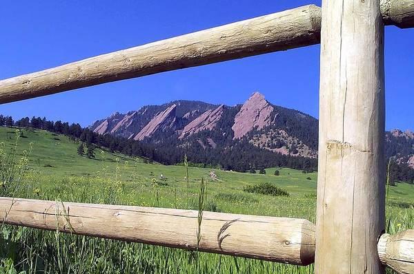 Photograph - Boulder Flatirons  by NaturesPix