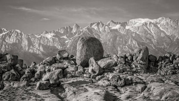 Boulders And Mountains - Sierra Nevada Art Print by Joseph Smith