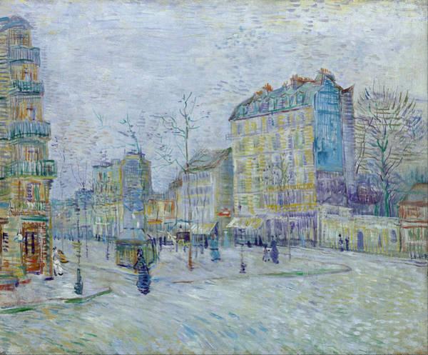 Parisian Cafe Painting - Boulevard De Clichy, 1887 by Vincent Van Gogh