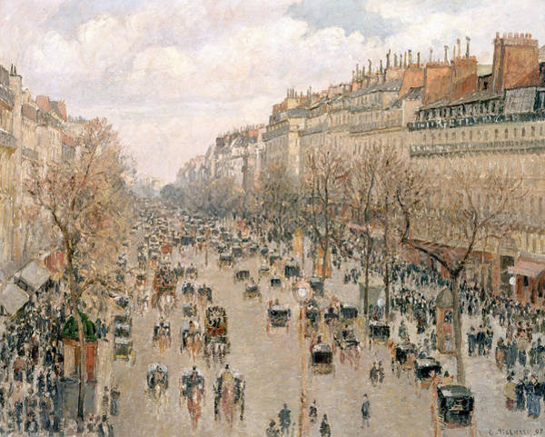 Wall Art - Painting - Boulevard Montmartre Afternoon Sun by Camille Pissarro