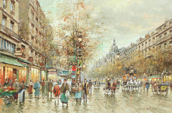 Boulevard Painting - Boulevard Of Italians by Antoine Blanchard