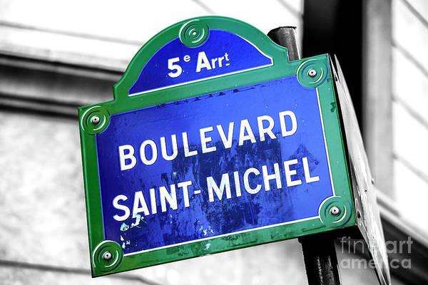 Photograph - Boulevard Saint-michel Paris by John Rizzuto
