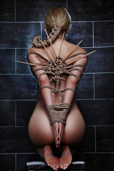 Erotism Photograph - Bound Nude Beauty - Fine Art Of Bondage by Rod Meier