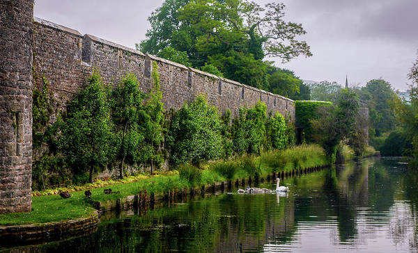 Photograph - Boundary Walls - Bishops Palace Wells England by Lexa Harpell