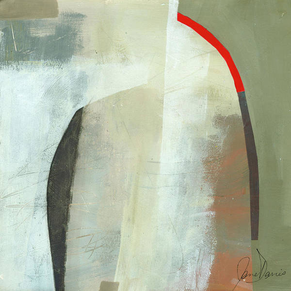 Acrylic Collage Painting - Boundary Adjustment #1 by Jane Davies