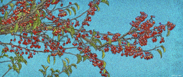 Digital Art - Bountiful Crabapples by Joel Bruce Wallach