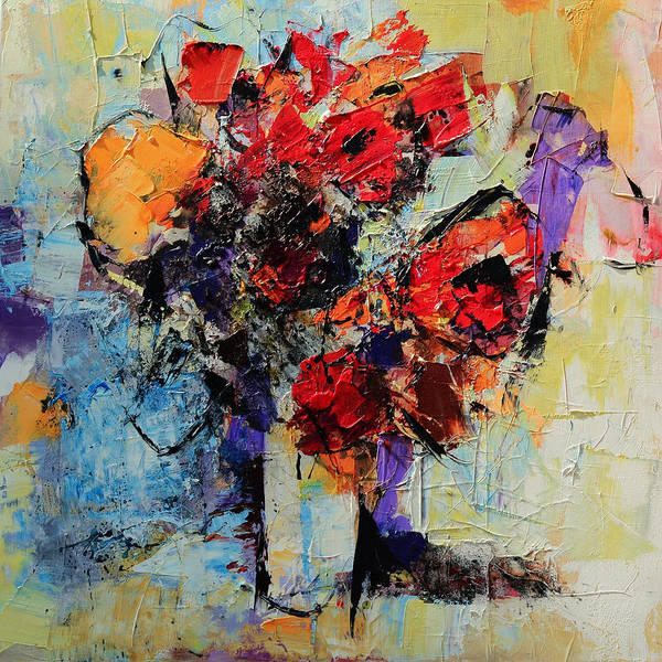 Christmas Flowers Painting - Bouquet De Couleurs by Elise Palmigiani